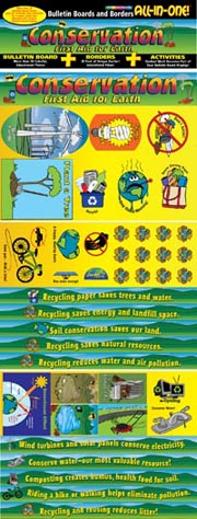 Conservation: First Aid for Earth! Bulletin Boards with Borders