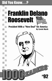 Franklin Delano Roosevelt: President with a 'New Deal' for America Consumable Pack 30