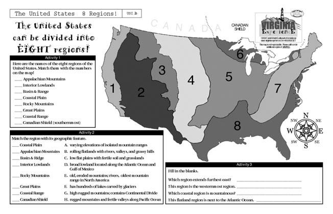 Virginia - United States\' 8 Regions