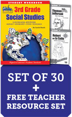 Louisiana 3rd Grade Class Set with Add-On Biography Readers