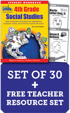 Louisiana 4th Grade Class Set with Add-On Biography Readers