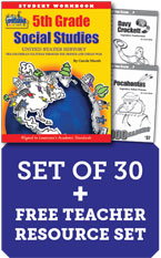 Louisiana 5th Grade Class Set with Add-On Biography Readers