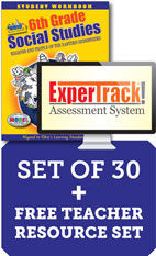 (2019) Ohio 6th Grade Class Set of 30 with ExperTrack Assessment System